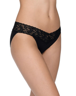 Signature Lace Organic Cotton V-Kini Panties, Basic Colors