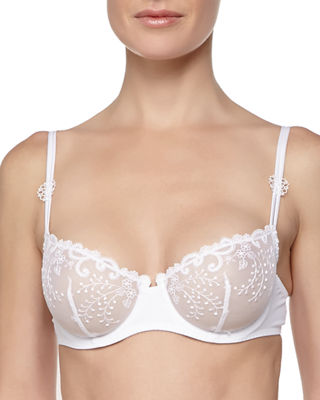 Image 1 of 2: Delice Embroidered Demi Bra