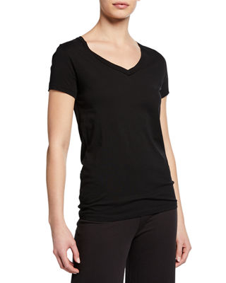 Skin Easy V-Neck Cotton Tee & Double Layer