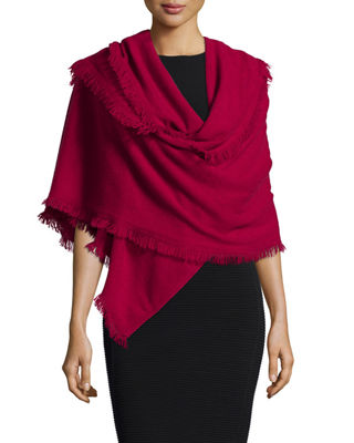 Neiman Marcus Cashmere Collection NMX - FRINGE SHAWL