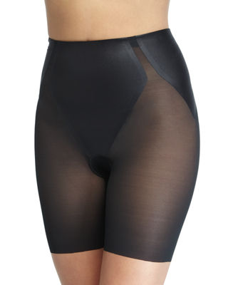 Image 1 of 2: Haute Contour Sheer Mid-Thigh Shaper Shorts