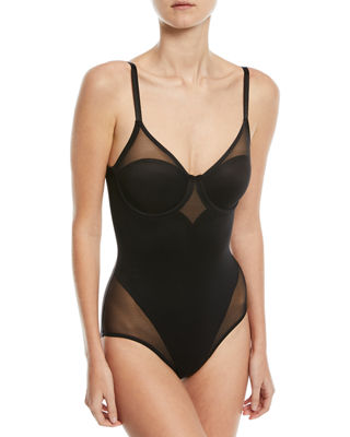Sheer Body Briefer Bodysuit