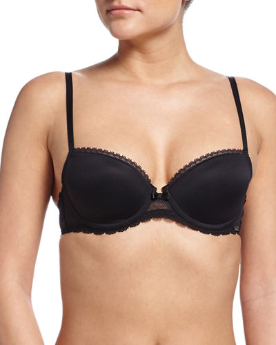 Chantelle Parisian Demi T-Shirt Bra & Sheer-Lace Hipster