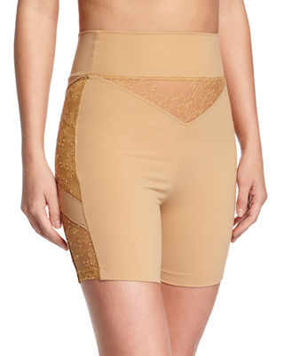 Image 1 of 2: Shape Allure Lace-Panel Shorts