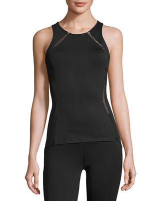 Heroine Sport Studio Mesh-Panel Athletic Tank Top