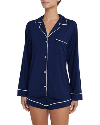 Image 1 of 5: Gisele Long-Sleeve Short Pajama Set