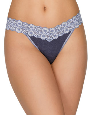 Hanky Panky Original-Rise Heather Jersey Thong