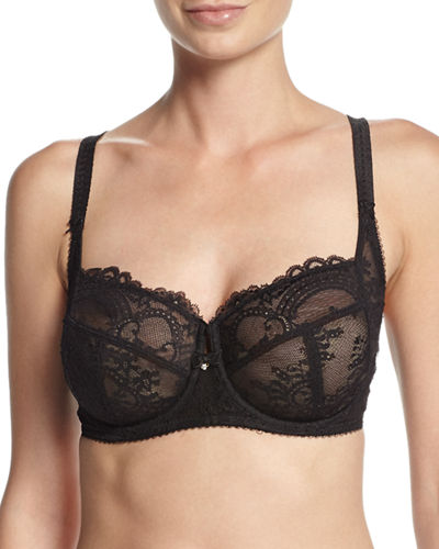 Wacoal Chrystalle Full-Figure Floral Lace Underwire Bra &