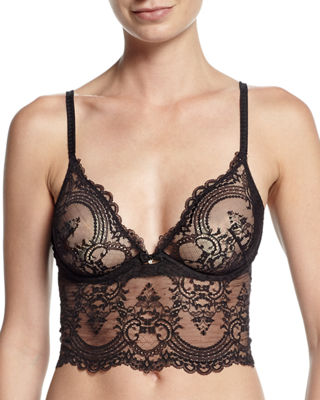 Chrystalle Lace Long-Line Bra