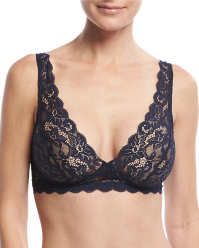 Hanro Luxury Moments Soft Lace Bra & Boyshorts,