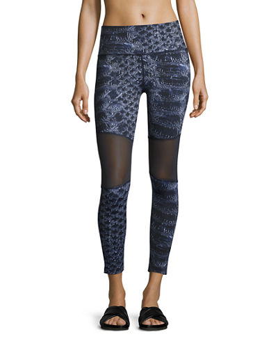 Varley Sycamore Mesh-Panel Compression Running Tights