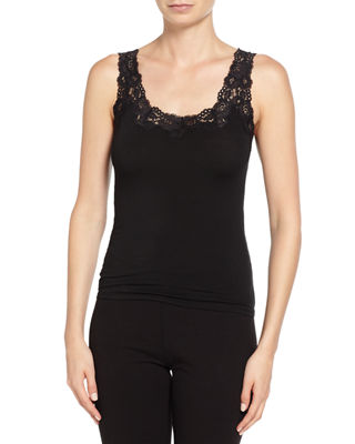 Image 1 of 2: Aspire Lace-Trim Jersey Tank