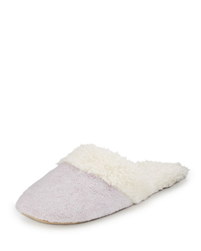 Natori Faux-Shearling Slide Slipper