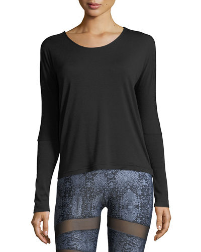 Drapey V-Back Long-Sleeve Athletic Tee