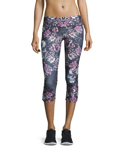 Onzie Graphic Capri Athletic Leggings
