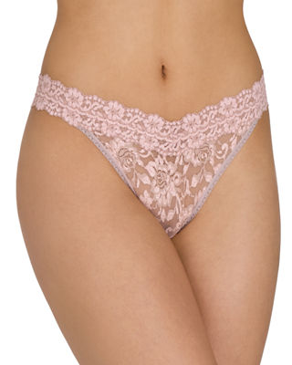 Low-Rise Cross-Dyed Lace Thong