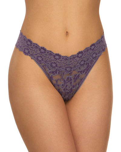 Floral Cross-Dyed Original-Rise Lace Thong, One Size
