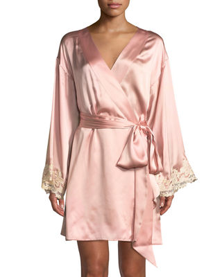 La Perla Maison Lace-Trim Short Robe