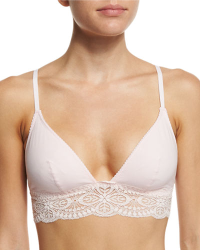 Cosabella Sonia Lace-Trim Bralette, Pink Lilly and Matching