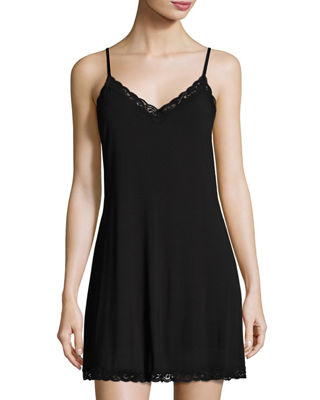 Image 1 of 4: Feathers Lace-Trim Chemise