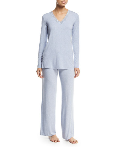 Natori Feathers Long-Sleeve Pajama Set
