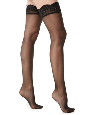 Wolford Lace-Filigree Stay-Up Thigh-Highs