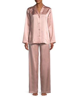 Silk Long-Sleeve Pajama Set
