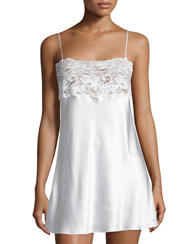 Christine Designs Lace-Trim Top Chemise