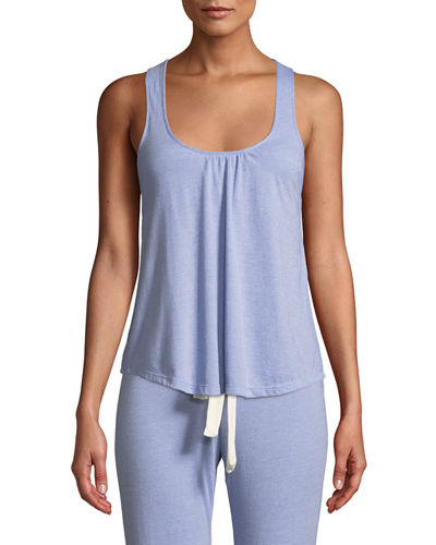 Eberjey Heather Slub Racerback Lounge Tank