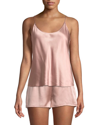 La Perla Silk Scoop-Neck Lounge Tank