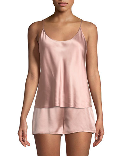 Silk Scoop-Neck Lounge Tank