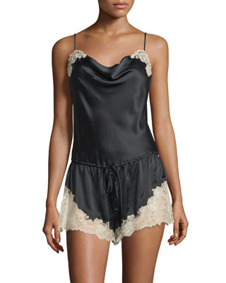 Lorena Lace-Trim Lounge Romper
