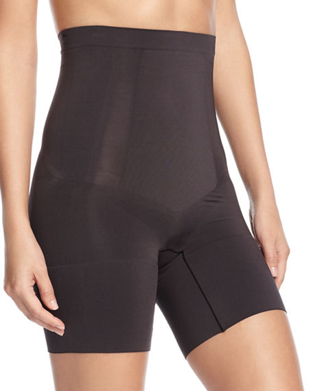 Image 1 of 2: Spanx OnCore High-Waisted Mid-Thigh Shorts