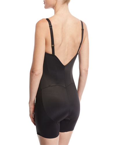Firm Control Low-Back Mid-Thigh Bodysuit Shaper