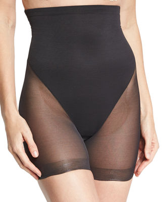 Image 1 of 4: Sheer Firm Control High-Waist Boyshort