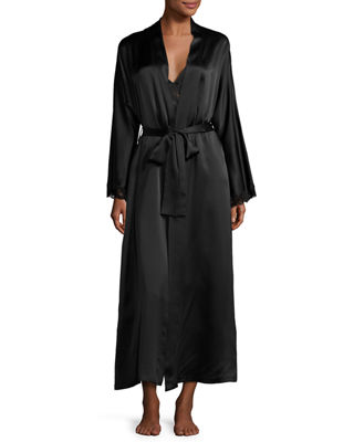 Christine Designs Bijoux Long Silk Robe
