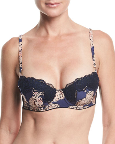 Stella McCartney Ellie Leaping Polka-Dot Contour Balconette Bra