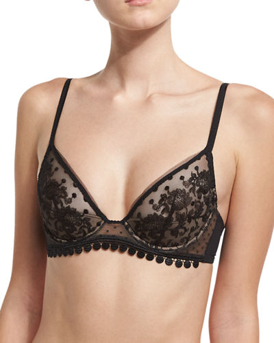 Baisers de Paris Half-Moon Triangle Bra