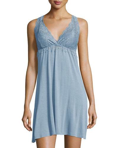 Front Cross Over Lace Chemise