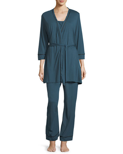 Cosabella Bella Maternity 3-Piece Pajama Set
