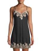 Josie Natori Charlize Lace-Trimmed Chemise