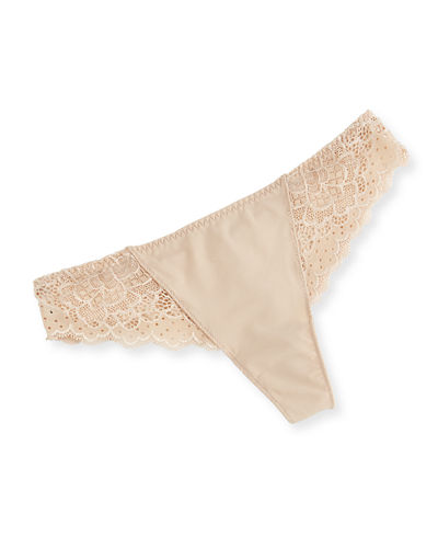 Caresse Lace Mesh Thong