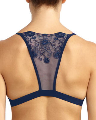 Image 2 of 2: Crown Embroidered-Back Bralette