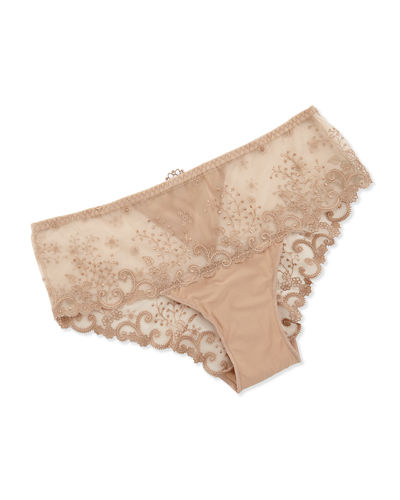 Delice Floral-Embroidered Boyshorts