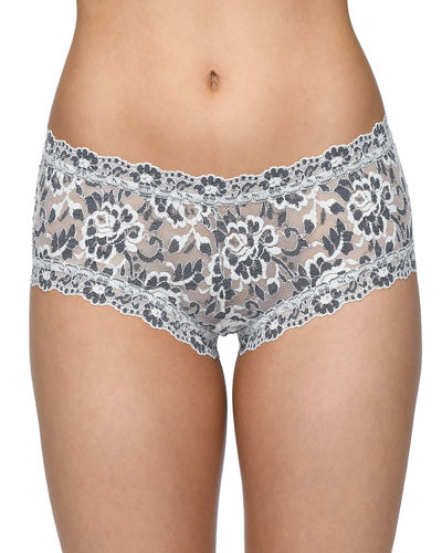 Hanky Panky Medium-Rise Cross-Dyed Boyshorts