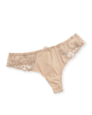 Delice Lace Mesh Thong