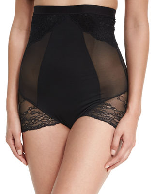 Lace-Inset High-Waist Shaper