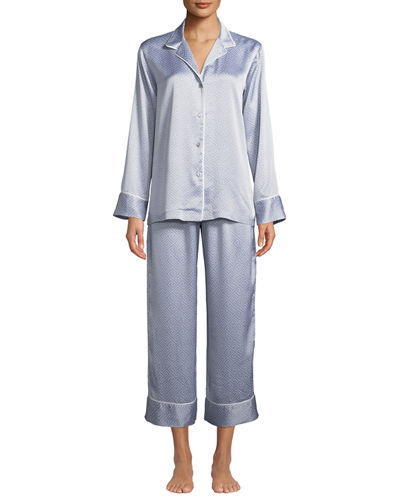 Labrinth Satin Pajama Set