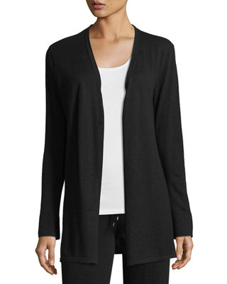Image 1 of 2: Cashmere Open-Front Cardigan