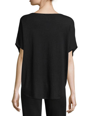 Image 2 of 2: Cashmere Short-Sleeve Lounge Top